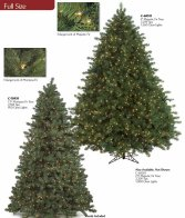 Artificial Christmas Tree Pre Lit Slim Pine