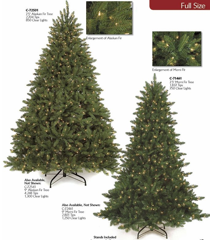 Blue Fir, Mixed Evergreen Trees, Instant Shape - Artificial Christmas Tree Pre Lit Slim Pine