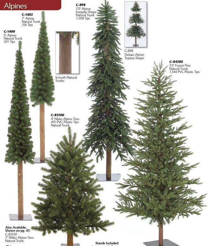 Half Size Artificial Christmas Trees