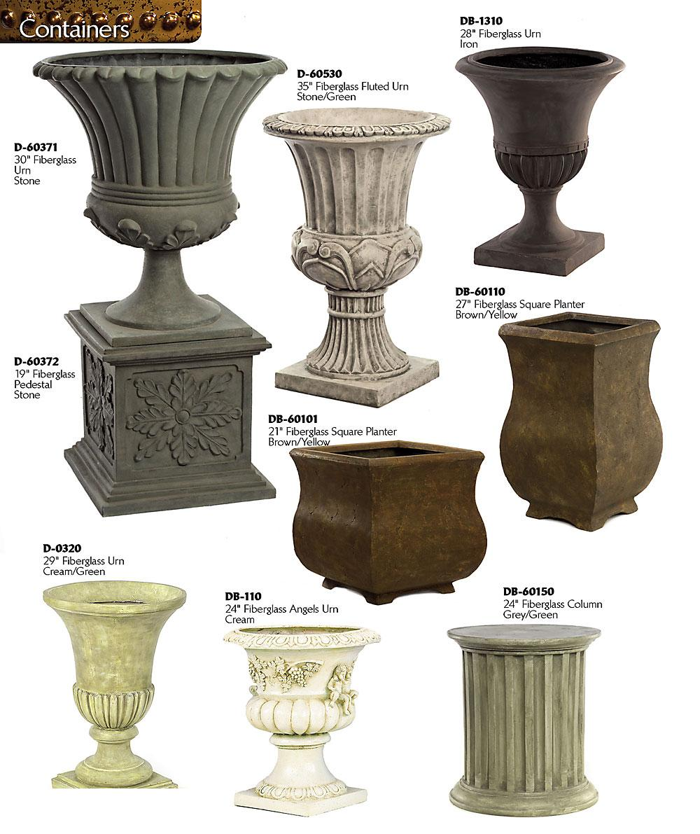 decorative planters and urns
