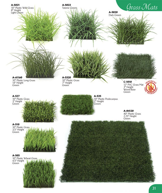 Artificial Grass Mats And Grasses