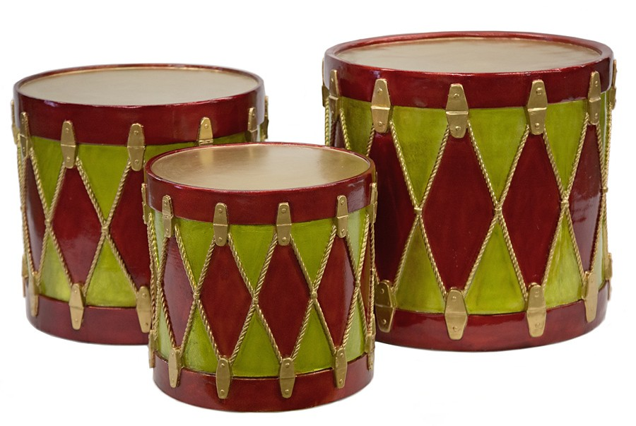 Christmas Drum.Earthflora S Small Med Large Decorative Christmas Drums