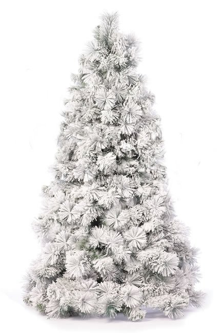 the latest 04f76 3c586 EF-1933 2' to 10' Slim/Pencil Forest Pine Christmas Tree Heavy Flocked Long  Needle Pine Tree