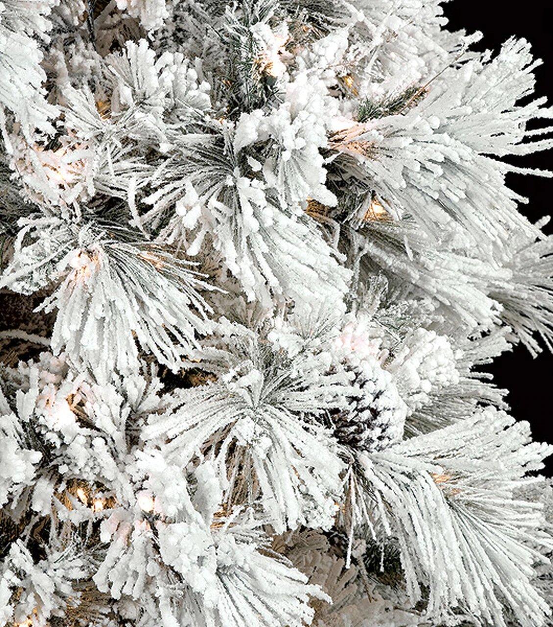 Earthflora > LED Christmas Trees > 9' Heavy Flocked Tree