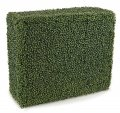"36"" Wide 12"" Deep 30"" Tall Polyblend Outdoor Boxwood Hedge -Tutone Green"