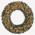 Virginia Pine Wreath - Triple Ring - 280 Green Tips - 100 Clear Lights
