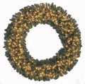 Virginia Pine Wreath - Triple Ring - 462 Green Tips - 200 Clear Lights