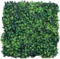 "EF-1275  10.5"" Plastic Boxwood Mat 10"" Square - 170 Leaves - Tutone Green 2"" Height (Priced in a set of 3)"