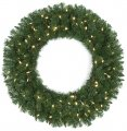 "36"" Monroe Pine Wreath - Triple Ring - 280 Green Tips"