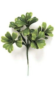 "5"" Plastic Boxwood Pick x 5 - Tutone Green"