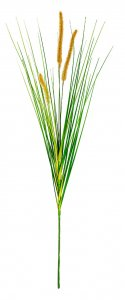 34 Inch Foxtail Spray With Onion Grass | Yellow/Beige