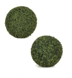 POLYBLEND OUTDOOR LARGE ENGLISH BOXWOOD BALL | 20 INCH, 24 INCH, 30 INCH, 42 INCH DIAMETERS