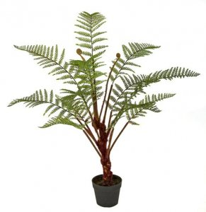 40 Inch Artificial Potted Fern Plant