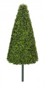 34 Inch Polyblend English Boxwood Cone Topiary