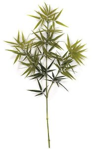 "39"" Outdoor Bamboo Branch - 134 Leaves - Green"