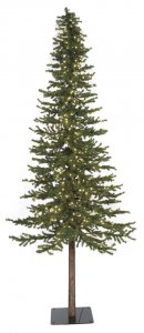 8' Alpine Christmas Tree - Natural Trunk - Full Size - 1,221 Green PVC Tips