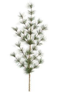 "27"" PVC Butte Pine Branch - 12 Tips - Green - FIRE RETARDANT"