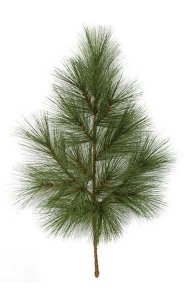 "40"" PVC Ponderosa Pine Branch - 14 Tips - Green"