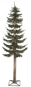 3' Flocked Pine Christmas Tree - Natural Trunk - 498 Green Tips