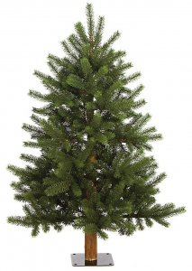 4' Mixed Nikko Fir Alpine Christmas Tree - 415 Green PE/PVC Tips