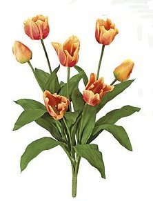 "Silk 28"" Tulip  Orange"