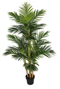 5.5 Foot Natural Touch Artificial Parlour Palm Tree With Weighted Base