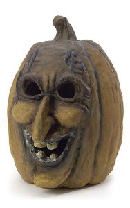 "10"" Resin Jack-O-Lantern - Yellow/Brown"