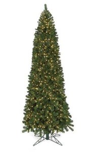 6' Virginia Pine Christmas Tree - Slim Size - 631 Green Tips - 350 Clear Lights