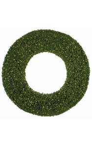 Commercial Pine Wreath - Double-Ring - 1,200 Warm White  LED Lights