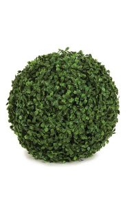 "12"" Plastic Boxwood Ball - 420 Tutone Green Leaves"