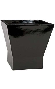 "14"" Fiberglass Square Pot - 13"" Inside Diameter - Gloss Black"