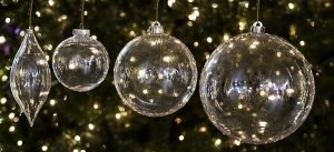 Earthflora's Shiny Transparent Ball Ornaments - 4 Inches Or 6 Inches
