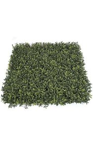 "20"" Plastic Outdoor Boxwood Mat - Tutone Green Leaves - FIRE RETARDANT"