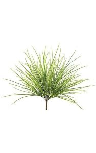 "20"" Plastic Grass Bush - 85 Leaves - Light Green"