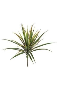 "24"" Plastic Yucca Bush - 44 Green/Red Edge Leaves"