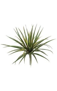 "24"" Plastic Yucca Bush - 56 Green/Red Edge Leaves"
