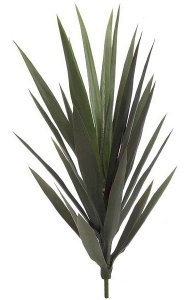 "26"" Outdoor  Yucca Plant - 24 Leaves - 9"" Width - Green- UV Protection"