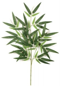 "27"" Bamboo Branch - 67 Green Leaves - FIRE RETARDANT"