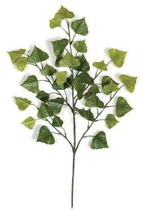 "27"" Poplar Branch - 36 Dark Green Leaves"
