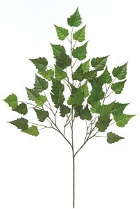 "28"" Birch Branch - 46 Leaves - Green - FIRE RETARDANT"