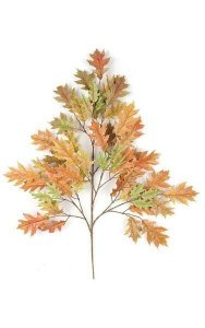 "29"" Pin Oak Branch - 54 Autumn/Rust Leaves - FIRE RETARDANT"