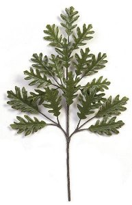 "29"" Outdoor White Oak Branch - 18 Leaves - Green"