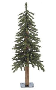 3' PVC Alpine Christmas Tree - Natural Trunk - 187 Tips