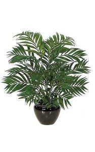 "30"" Areca Palm Bush - 26 Green Fronds 27"" Width- FIRE RETARDANT"
