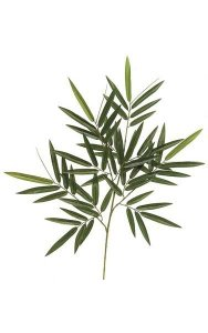 "30"" Bamboo Branch - 64 Leaves - Green"