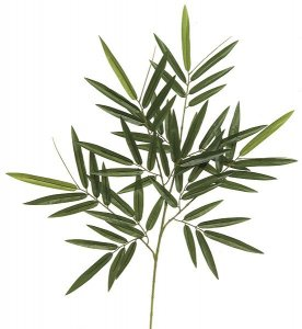 "30"" Bamboo Branch - 64 Leaves - Green - FIRE RETARDANT"
