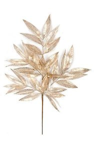 "30"" Plastic Gold Painted White Willow Spray - 20"" Width - Tutone Gold"
