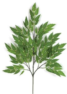 "30"" Mahonia Branch - 118 Green Leaves - 16"" Width - FIRE RETARDANT"