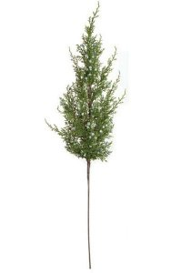 "30"" Plastic Juniper Spray - 60 Leaves - Berries - Green"