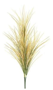 "31"" Plastic Grass - 190 Yellow/Green/Red Leaves - Bare Stem"
